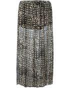 MICHAEL Michael Kors Printed Slit Detail Skirt - Lyst