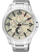 Citizen Steel Watch. Beige Face, Steel Bracelet - Lyst