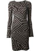 Gareth Pugh Printed Dress - Lyst