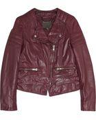 Muubaa Surko Leather Biker Jacket - Lyst