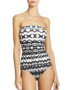 Badgley Mischka Strapless One-Piece Swimsuit - Lyst
