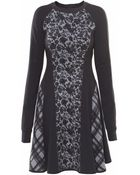High Whirl Check Day Dress - Lyst