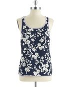 Vince Camuto Floral Tank - Lyst