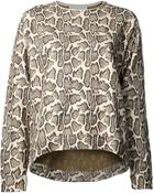 Stella McCartney Snakeskin Print Sweater - Lyst