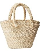 Dolce & Gabbana Straw And Canvas Tote - Lyst