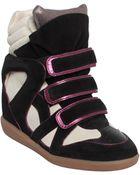 Isabel Marant Wila Suede Sneakers - Lyst