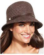 Nine West Short Brim Cloche Hat - Lyst