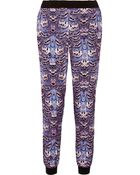 Tibi Ibis Printed Sateen Tapered Pants - Lyst