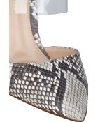 Gianvito Rossi Python Point-toe Mules - Lyst