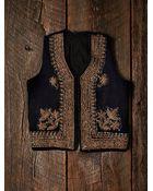 Free People Womens Vintage Velvet Embroidered Vest - Lyst