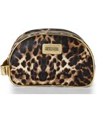 Kenneth Cole Reaction Brown Leopard Print Double Zip Cosmetic Case - Lyst