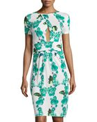 M Missoni Fish-Print Cross-Front Dress - Lyst
