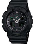 G-Shock Men'S Analog-Digital Black Resin Strap Watch 55X52Mm Ga100Mb-1A - Lyst