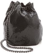 Whiting & Davis Soft Metal Bucket Bag - Black - Lyst