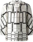 Etro Square Print Jacket - Lyst