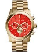 Michael Kors Ladies' Runway Chronograph Watch - Lyst