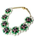 Shourouk Narcis Xl Green Necklace - Lyst