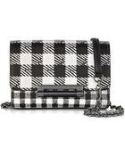Diane von Furstenberg 440 Micro Mini Black & White Gingham Leather Crossbody Bag - Lyst