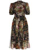 Dolce & Gabbana Silk Tea Dress - Lyst