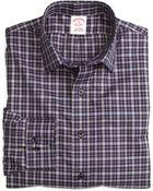 Brooks Brothers Noniron Slim Fit Mini Check Sport Shirt - Lyst