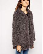 Asos Jacket In Mongolian Fur - Lyst