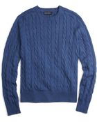 Brooks Brothers Cable Crewneck Sweater - Lyst