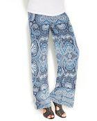 Inc International Concepts Paisleyprint Wideleg Soft Pants - Lyst