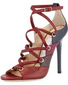 Jimmy Choo Linger Leather Laceup Sandal - Lyst