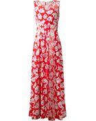 Nina Ricci Printed Maxi Dress - Lyst