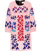 Peter Pilotto Embellished Wool-Crepe Mini Dress - Lyst