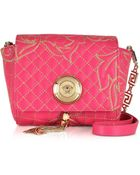 Versace Barocco Quilted Leather Shoulder Bag - Lyst