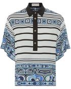 Emilio Pucci Stripe Print Silk Tunic Shirt - Lyst