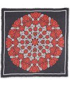 Alexander McQueen Floral-Print Silk Scarf - Lyst