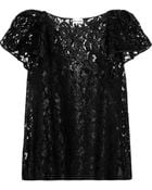 Philosophy Ruffled Glossed Lace Top - Lyst