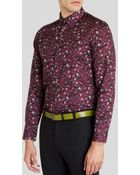 Ted Baker Noface Floral Classic Fit Long Sleeve Classic Col - Lyst