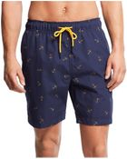 Tommy Hilfiger Tossed Anchor Swim Trunks - Lyst