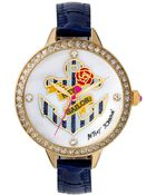 Betsey Johnson Women'S Blue Leather Strap Watch 42Mm Bj00419-02 - Lyst