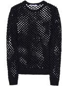 T By Alexander Wang Long Sleeve Sweater - Lyst