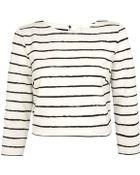 Elizabeth And James Ivory Jayren Stripe Zip Crop Top - Lyst
