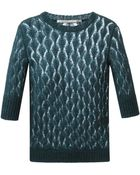 Ermanno Scervino Crochet Knit Sweater - Lyst