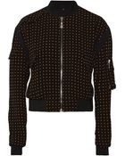 McQ by Alexander McQueen Reversible Printed Crepe Bomber Jacket - Lyst