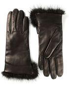 Moncler Fur Trimmed Gloves - Lyst