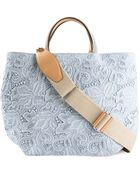 Ermanno Scervino Floral Embroidery Tote - Lyst