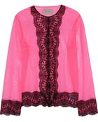 Christopher Kane Lace-Trimmed Tulle Jacket - Lyst