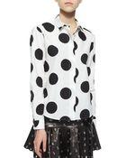 RED Valentino Polka-Dot Cotton Shirt - Lyst