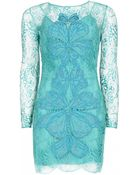 Matthew Williamson Wing Lace Embroidered Mini Dress - Lyst