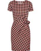 Diane von Furstenberg Zoe Printed Silk-Jersey Mini Dress - Lyst