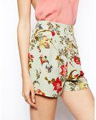 Asos Floral Print Shorts - Lyst
