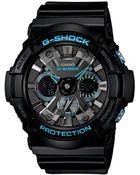 G-Shock Men'S Analog-Digital Black Resin Strap Watch 55X53Mm Ga201Ba-1A - Lyst