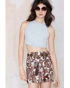 Nasty Gal Asilio Back To The Wall Chambray Top - Lyst